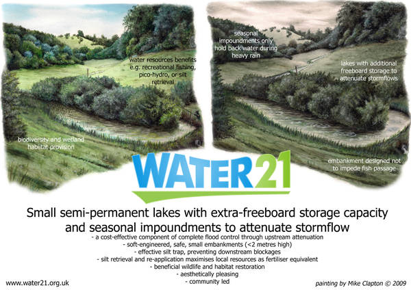 small scale dispersed multi benefit upstream attenuation for flood control Flooding Examples